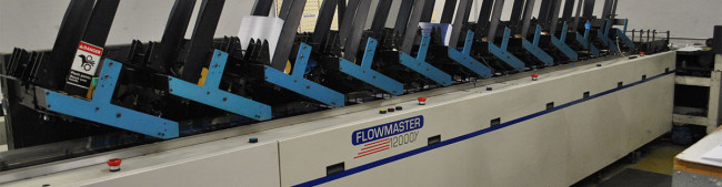 Flowmaster 12000 pocket inserter and direct addressing machine