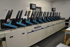 flowmaster 12000 pocket inserter and direct addressing machine