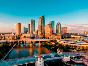 Florida, Tampa, city, City vibe, City and water, downtown Tampa, bridges, Clean city, buildings, Skyscraper, shore, Tampa bay,
