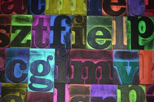 Multicolored typeset - best font for marketing