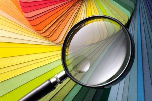 Color card with magnifying glass.Similar photographs from my portfolio: