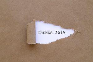 Trends 2019 written under torn paper.